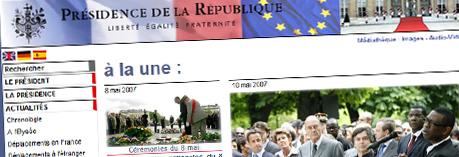 Consultez les archives de l'Elysée 1995-2007