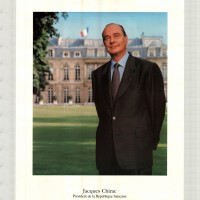 Photo officielle de Jacques Chirac Président de la République