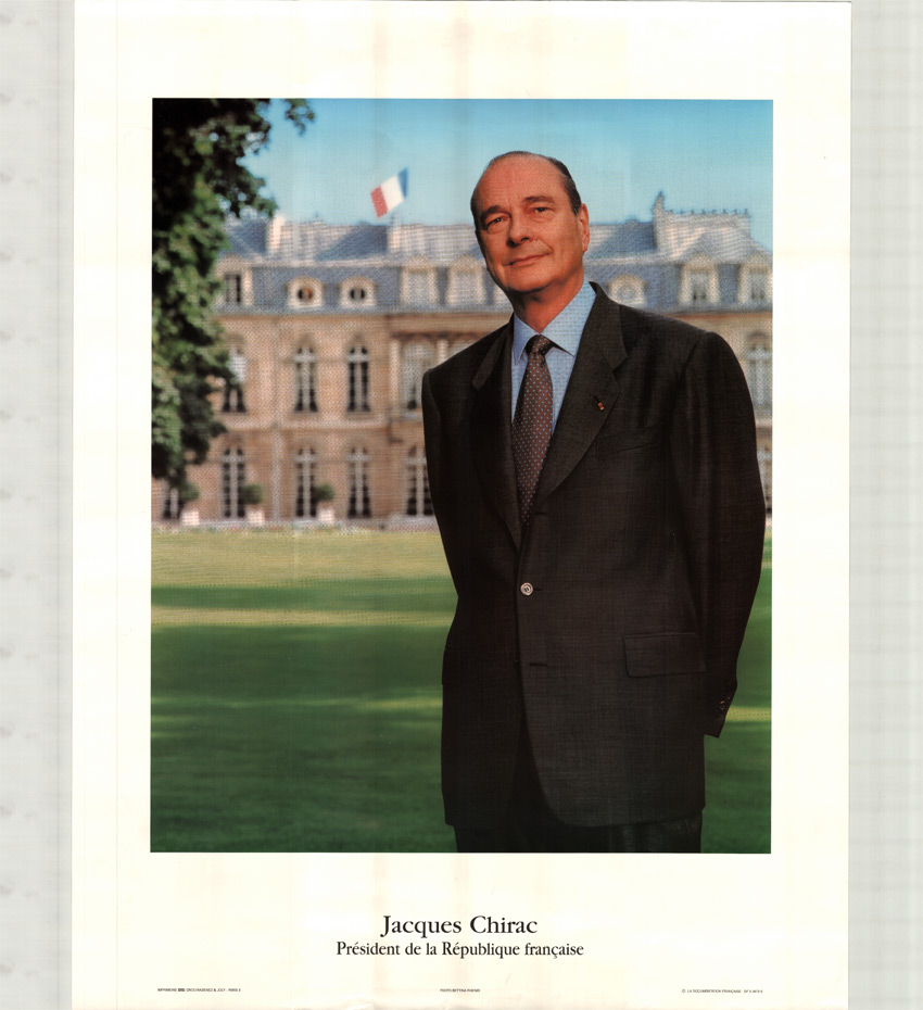 photo officielle avec le pr sident chirac. Black Bedroom Furniture Sets. Home Design Ideas